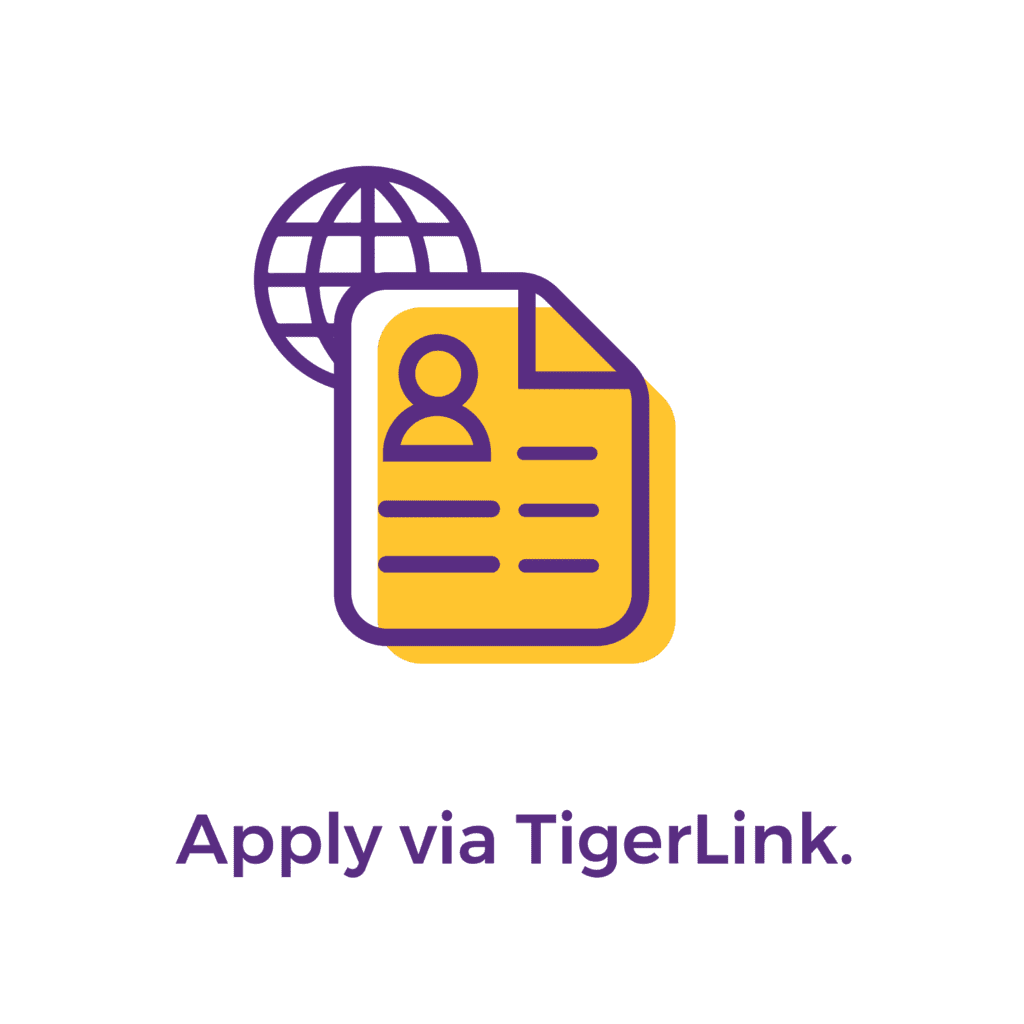 Step 2: Apply via TigerLink.
