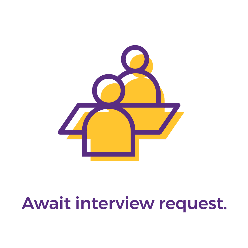 Step 4: Await interview request.