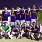 LSU soccer players