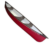Photo of red canoe