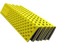 Photo of yellow mat folded up