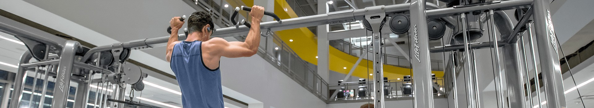 Member doing a pull up