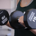 photo of girl doing bicep curl