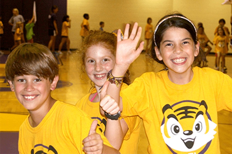 Group of excited Tiger's Den campers.