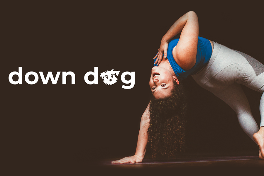 Promotional photo for the down dog app.