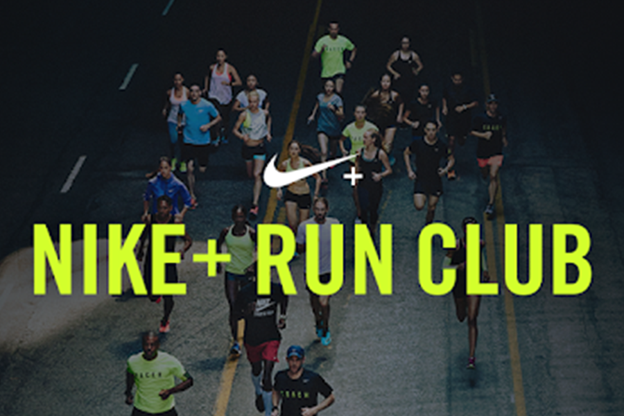 Promotional photo for the Nike+ Run Club app.
