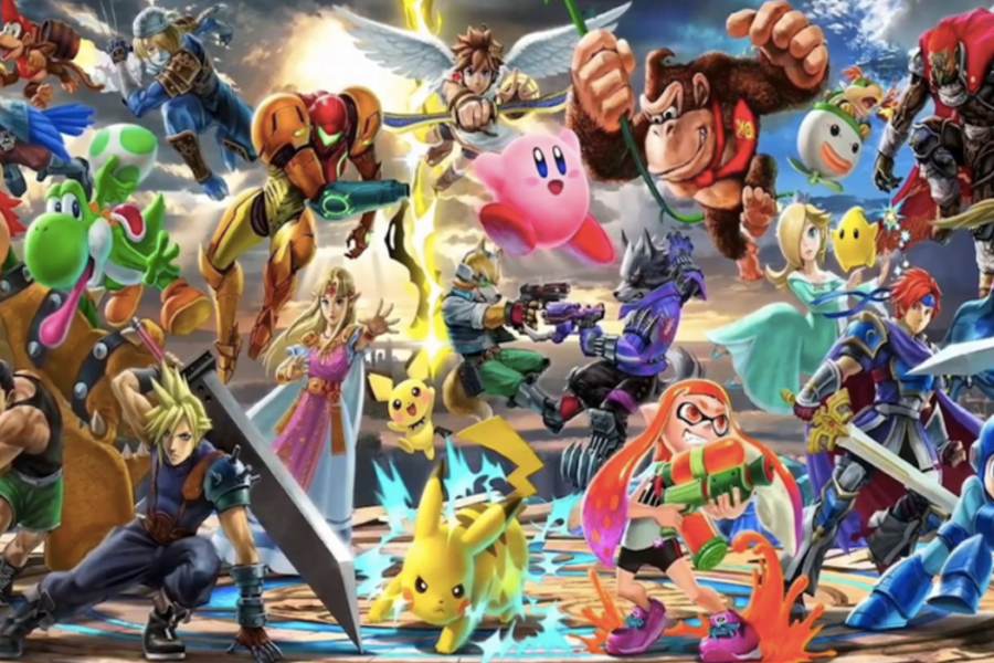 Super Smash Brothers Characters.