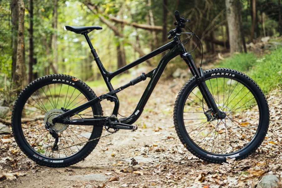 Photo of a mountain bike.
